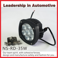 NSSC leading performance New 35w led motorcycle light motorcycle auto driving light flood beam spot beam worklight