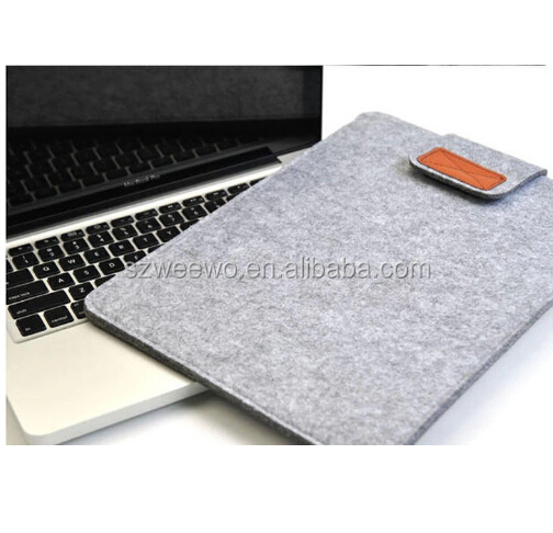 "Brown Gray Color New Woolen Felt Laptop Sleeve Bag Cover Case For Laptop/Samsung/Sony/HP/ Macbook Air Pro/Dell 11""13"" 15 """