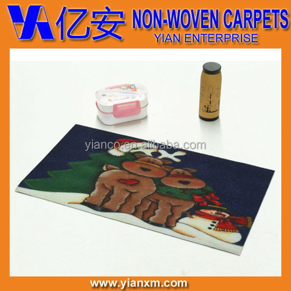 Printed Christmas custom decorative PVC backing door matting