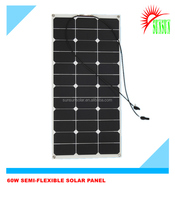 Best quality high efficiency Semi Flexible Sunpower Solar Panels 60W