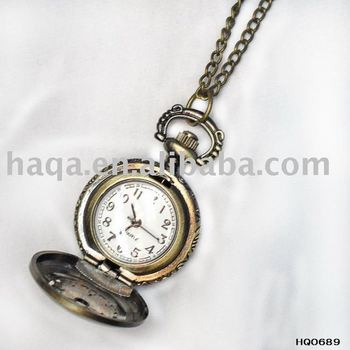 classical clock necklace