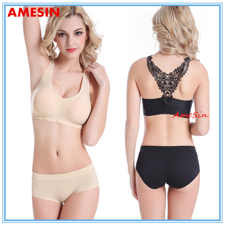 AMESIN YOGA WEAR TEENS BRA AND PANTIES SET UNDER WEAR WOMEN