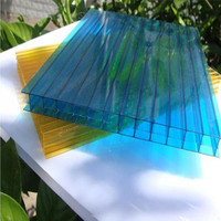 Skylight System 6mm Twin Layer Polycarbonate Sheet,Plastic Sheet Twin Wall PC Hollow Sheet,Hollow polycarbonate roofing sheet