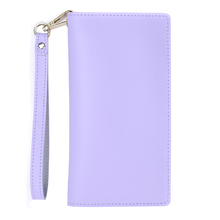Landscape supply card holder purple and pink PU leaher ladies universal case with wrist rope