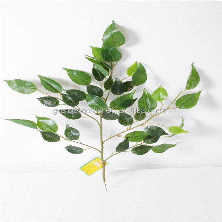 Artificial ficus leaves real touch wall hanging ficus leaf stem
