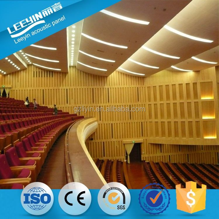 14-2mm wooden grooved acoustic panel with fr mdf