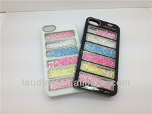 Rainbow Stripe PC Plastic Case for iPhone 5 5S, Beautiful Crystal Bling Hard Case for iPhone 5 5G 5S