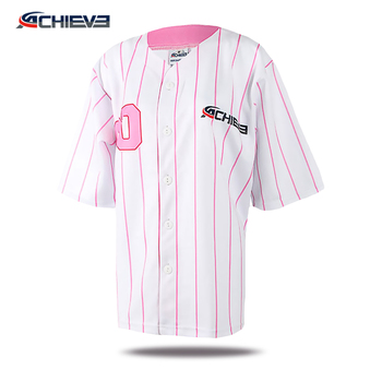 Sublimation custom 5xl blank striped baseball jersey made in china