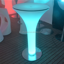 portable rgb color illuminated cocktail table bar/party led glow outdoor umbrella table with remote control
