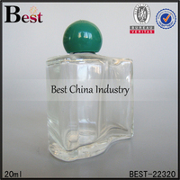 20ml screw neck perfume bottle two in one perfume glass bottle