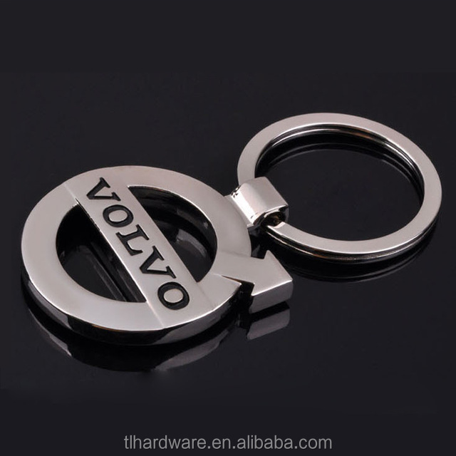 metal volvo car logo inspired Keychain