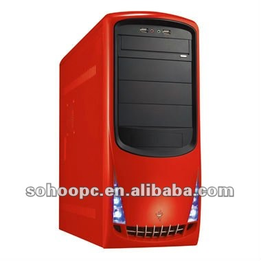 MID TOWER COMPUTER CASE-RED COLOR-6908-LCD