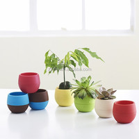 Mini Round Plastic Plant Flower Pot