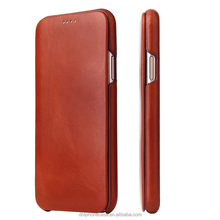 leather case phone case factory genuine leather flip case,back cover case for iphone X 6 7 8 , for Samsung galaxy s2 note7