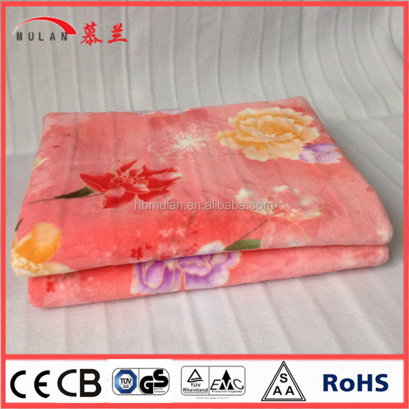 2015 custom flannel electric heated blanket
