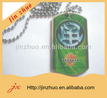 metal tag with customer logo