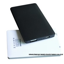 Large capacity High quality super slim Portable charger Power bank 2200mAh External battery for iPhone black and white
