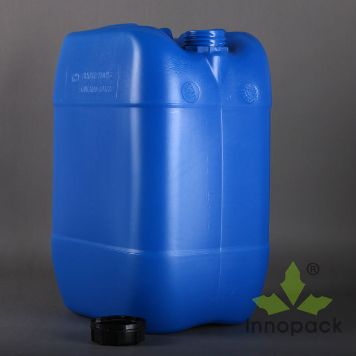 25L blue HDPE food grade plastic barrel for chemical wholesale