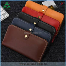 6.0inch Mobile phone Universal leather wallet real genuine leather wallet case for iPhone/Galaxy phones