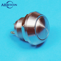 Metal Push Button Switch white LED waterproof motorcycle switch