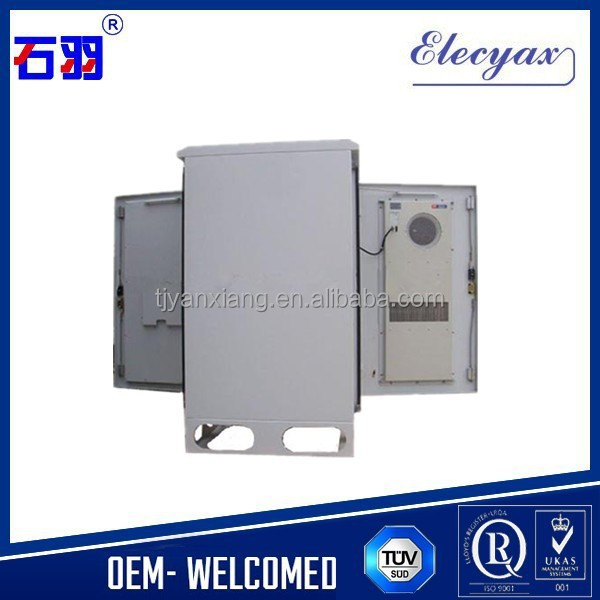 "SK-270 19"" rack equipment cabinet for shelter purpose/telecom equipment enclosure with 22U capacity/Air conditioning cabinet"