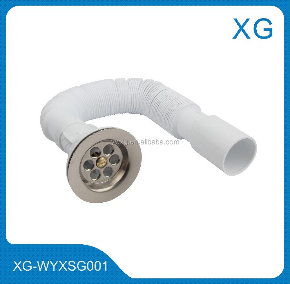PP resíduos bacia mangueira flexívelmangueira de plástico ralo da pia, com f -> Mangueira Flexivel Para Pia De Banheiro