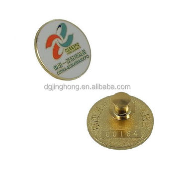 soft enamel brass pin badge with engraving serial number back(25mm dia)