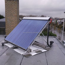 Flat Roof Mounted, Domestic Heat Pipe Vacuum Tube Solar Hot Water Collector