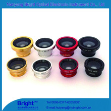 Widely used mobile phone 3 in 1 camera lens for all mobile phones fisheye macro video cameras wide angle lens