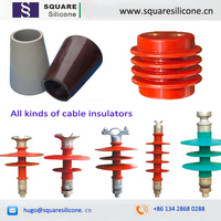 Liquid silicone material for cold shrink terminals and cable accessories