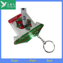 Promotion Fashion Custom pvc keychain with led squeeze light
