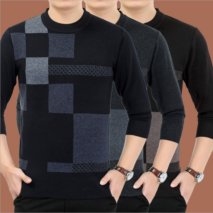 Middle-aged and old men's casual winter sweater