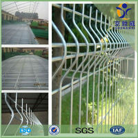2014 China new design parking lot protection 3d welding wire mesh fence