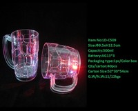 Lighted Wine glass /led cup for night club 500ml