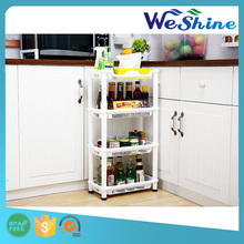2015 Hot Sale Bathroom Plastic Kitchen Corner Shelf Stand 4 Tier Layers Storage Sundries Rack