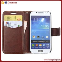Leather flip case for samsung galaxy s4 mini, for samsung galaxy s4 mini i9190 i9192 case
