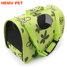 2017 hemu green soft mesh sided dog and cat travel tote hand bag pet carrier bag