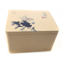 cosmetic tin box for lady,tins for lip balm,fancy gift tin box