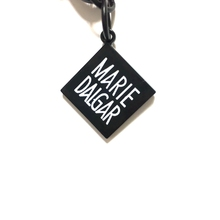 Black color custom shape brand logo metal printed key chain tags zinc alloy blank color logo tags charms (KC-003)