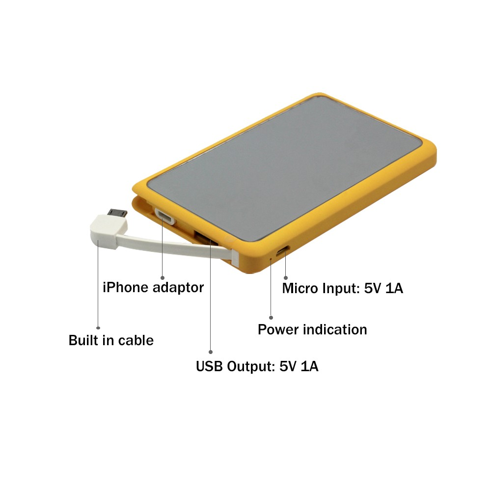 power bank with mirror in 4000mAh