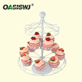 revolving metal powder coated carousel cake stand for 12 cupcakes