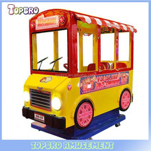 Kids entertainment coin operated wig-wag machine happy bus swing machine