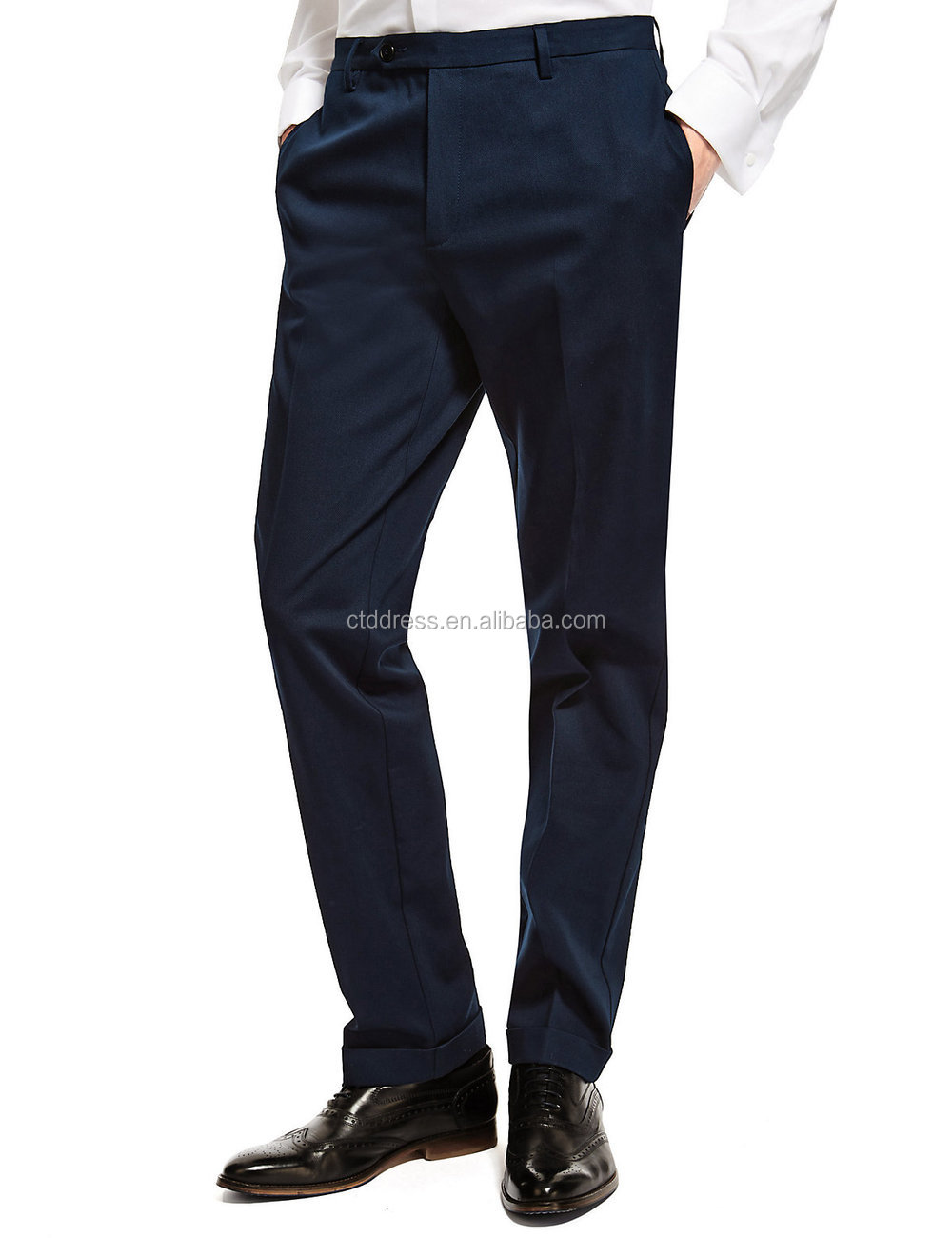 2015 New style 100% cotton dark blue chino trousers