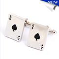 Promotional enamel jewelry cufflinks metal crafts play card cufflink