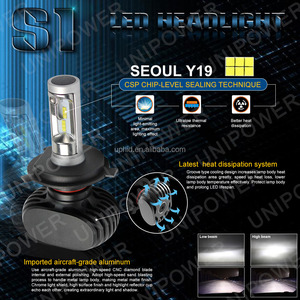 2016 new arrival S1 canbus error free 4000lm Seoul CSP chip auto car light H4 H13 9004 9007 led headlight with 2 year waranty