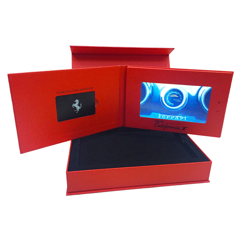 Factory Supply 7 Inch HD IPS Screen Video Brochure For Promotion
