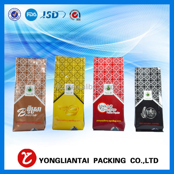 top selling products sealable pouches for tea/coffee foil bags