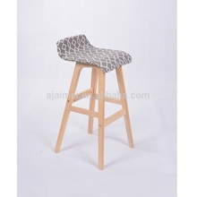 Hot Sale Durable Cheap Factory Made Kitchen Bar Stool High Chair Wood Bar Stool