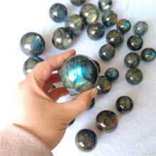 Beautiful Natural flash labradorite stone sphere ball