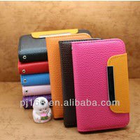New design 2014 bling wallet case for apple iphone 5 leather flip cover